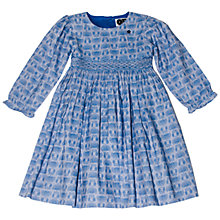 Buy Question Everything Girls' Amber Owl Hand Smocked Dress, Blue Online at johnlewis.com