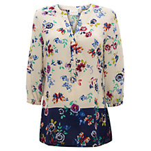 Buy East Juno Floral Print Tunic, Pearl Online at johnlewis.com