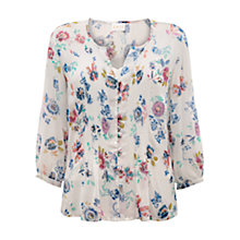 Buy East Juno Georgette Blouse, Pearl Online at johnlewis.com