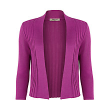 Buy Precis Petite Rib Detail Shrug, Magenta Online at johnlewis.com