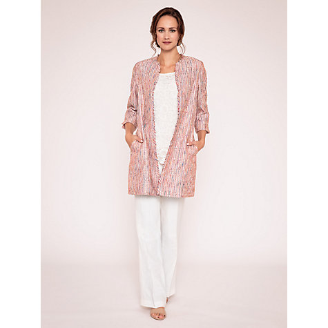 Buy East Textured Tweed Coat, Multi Online at johnlewis.com