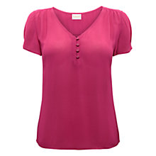 Buy East Button Georgette Blouse Online at johnlewis.com
