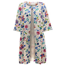 Buy East Victoire Juno Print Coat, Cream Online at johnlewis.com
