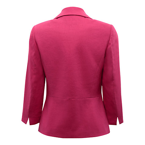 Buy East Victoire Linen Jacket, Pink Online at johnlewis.com