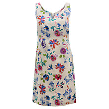 Buy East Juno Print Linen Dress, Pearl Online at johnlewis.com