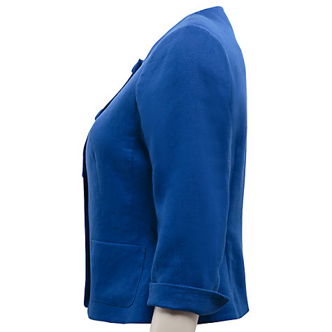 Buy East Victoire Collarless Jacket, Blue Online at johnlewis.com