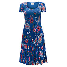 Buy East Alba Floral Bubble Dress, Azure Online at johnlewis.com