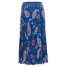Buy East Alpha Bubble Maxi Skirt, Azure Blue Online at johnlewis.com