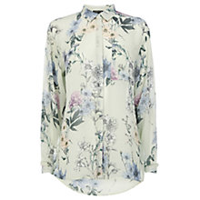 Buy Warehouse Stencil Floral Print Shirt, Multi Online at johnlewis.com