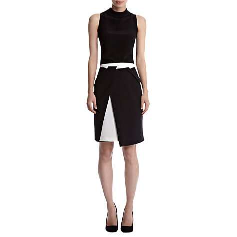 Buy Coast Cambrils Monochrome Skirt, Black Online at johnlewis.com