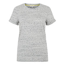 Buy Hobbs Connie T-Shirt, Grey Marl Online at johnlewis.com