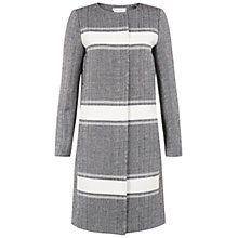 Buy Hobbs Susannah Coat, Black/Ivory Online at johnlewis.com