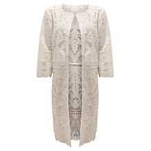Buy East Cutwork Lace Coat, Pearl Online at johnlewis.com