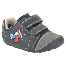 Buy Clarks Childrens' Tiny Jet Trainers, Navy Online at johnlewis.com