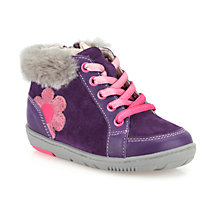 Buy Clarks Children's Max Fleur Boots, Purple/Maxi Online at johnlewis.com