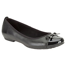 Buy Clarks Una Ivy Leather Shoes, Black Online at johnlewis.com