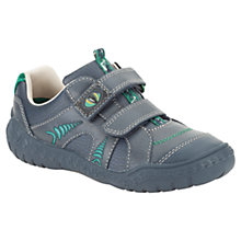 Buy Clarks Children's Stomp Claw Trainers, Navy Online at johnlewis.com