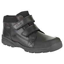 Buy Clarks Children's Diggy Up Boots, Black Online at johnlewis.com