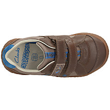 Buy Clarks Stomp Claw Rip-Tape Trainers, Brown Online at johnlewis.com