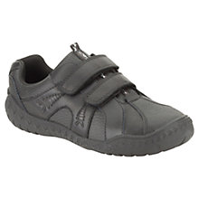Buy Clarks Stomp Roar Rip-Tape Shoes, Black Online at johnlewis.com