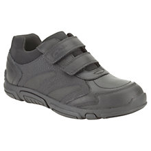 Buy Clarks Jack Spark Rip-Tape Shoes, Black Online at johnlewis.com