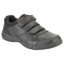 Buy Clarks Air Learn Leather Shoes, Black Online at johnlewis.com