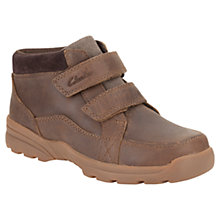 Buy Clarks Childrens' Diggy Guy Boots, Brown Online at johnlewis.com