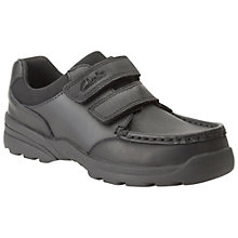 Buy Clarks Childrens' Zayden Go Shoes, Black Online at johnlewis.com