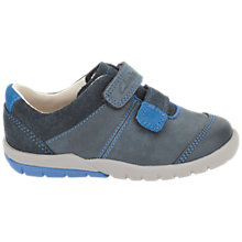 Buy Clarks Childrens' Softly Seb Trainers, Grey/Orange Online at johnlewis.com