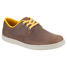 Buy Clarks Children' Holbay Fun Trainers, Brown Online at johnlewis.com