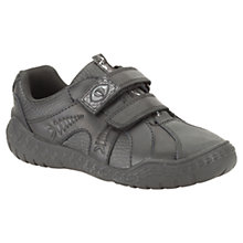 Buy Clarks Stomp Roar Leather Shoes, Black Online at johnlewis.com