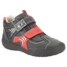 Buy Clarks Childrens' Stomp Kick Shoes, Black/Red Online at johnlewis.com