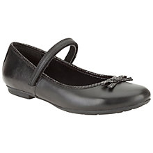 Buy Clarks Kimberly Sky Leather Shoes, Black Online at johnlewis.com