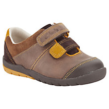 Buy Clarks Soft Seb Rip-Tape Leather Shoes, Brown Online at johnlewis.com