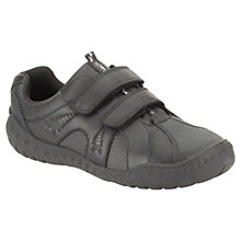 Buy Clarks Children's Stomp Roar Shoes, Black Online at johnlewis.com