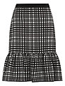 Fenn Wright Manson Harriet Peplum Skirt, Black/White