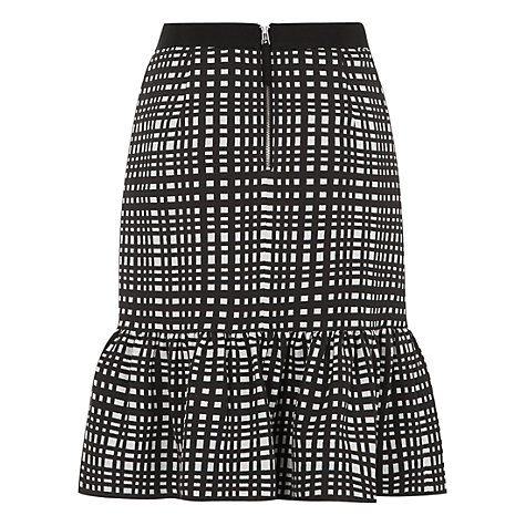 Buy Fenn Wright Manson Harriet Peplum Skirt, Black/White Online at johnlewis.com