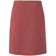 Buy White Stuff Draper Dot Skirt, Dark Rouge Online at johnlewis.com