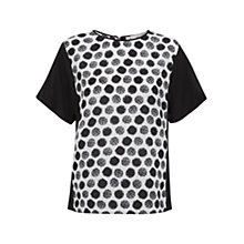 Buy Fenn Wright Manson Lea Silk Top, Black/White Online at johnlewis.com