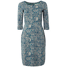 Buy White Stuff 50's Pop Geometric Dress, Jewelled Jade Online at johnlewis.com