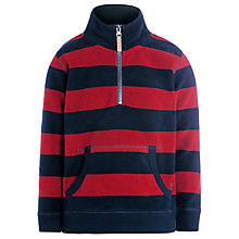 Buy John Lewis Boy Stripe Zip Fleece, Red/Blue Online at johnlewis.com