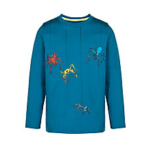 Buy John Lewis Boy Spiders Long Sleeve T-Shirt, Blue Online at johnlewis.com