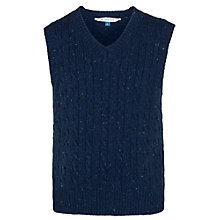 Buy John Lewis Boy Cable Knit Tank Top, Blue Online at johnlewis.com