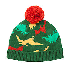 Buy John Lewis Boy Dino Beanie Hat, Green/Multi Online at johnlewis.com