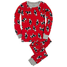 Buy Hatley Boys' Repeat Cow Print Pyjamas, Red Online at johnlewis.com