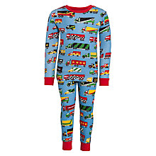 Buy Hatley Boys' Repeat Print Truck Pyjamas, Multi Online at johnlewis.com
