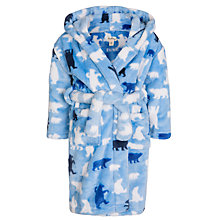 Buy Hatley Boy's Bear Fluffy Robe, Pale Blue Online at johnlewis.com