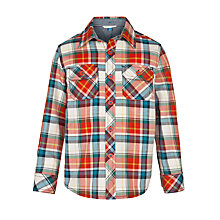 Buy John Lewis Boy Large Multicheck Long Sleeved Shirt, Multi Online at johnlewis.com