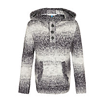 Buy John Lewis Boy Gradient Funnel Neck Jumper, Grey Online at johnlewis.com
