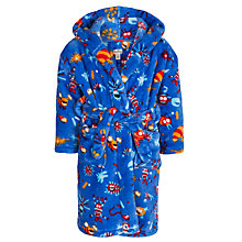 Buy Hatley Boys' Alien Insect Fleece Robe, Blue/Multi Online at johnlewis.com